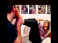 Bossy French Mistress Gets A World Class Foot Fetish Treatment F