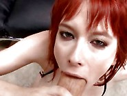 Redhead Zoe Nixon Is Sprayed On Her Big Tits