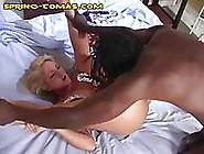 Blonde Girl Gets Oral From Black