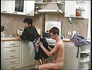 Mature Woman And Her Son's Horny Friend Are Doing It In The