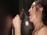 Mature Slut Sucks 2 Bbcs And Swallows Their Cum At The Gloryhole