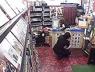 Two Asian Sluts Fucking With Two Guys In Sex Shop In Security Ca