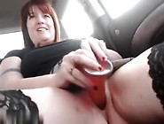 Hot Amateur Readhead Milf In Stockings Hot Car Action