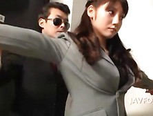 Busty Asian Office Lady Loves Nipples Sucking