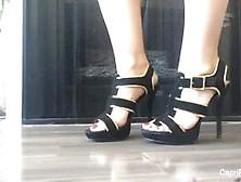 Capri Cavanni Shows Off Her Slender Feet