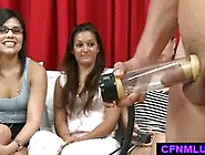 Latino Boy Demonstrates Sextoy For Men During Cfnm Show