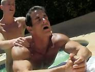 Gay Porn Daddy Poolside Prick Loving