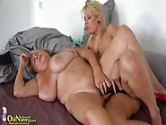Bbw Granny With Huge Tits Strapon Fucked By A Lesbian