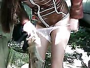 Nerdy Girl Olga Pees Her Pants In The Street In Public Pissing V