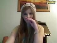 Blonde Emo Girl Webcam Striptease