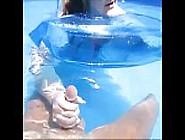 Nasty Mom Give Son Handjob In Pool Underwater & Make Him Cum Und
