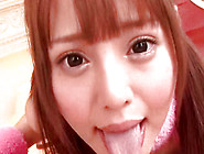 Redhead And Frolic Japanese Chick Is Swallowing Meat
