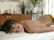 Beauty Receives Her Hairless Twat Ravished By Masseur