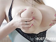 Lovely Teen With Huge Tits Buffy Masturbating Her 18Yo Pussy