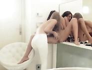 Teen Lesbian Babes Gag Pussies Under Sweet Panties