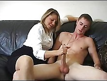 Mature Woman Is Having Fun With Her Son's Good Friend While