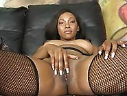 Black Hood Chick Masturbates Before Throat Fuck