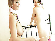Pigtails Lesbian With Nice Ass Posing Seductively With Her Babe