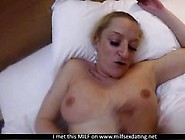 Amateur Blonde Milf Gets Fucked And Creamed So Damn Well