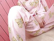 Naughty Asian Filth Sena Sakura In Cute Pijamas Fingers Herself