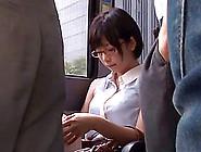 Shameless Japanese Slut Sucks Two Guy's Cock Out In Public
