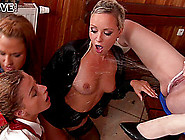 Hot Lesbian Girls Lick Their [Wet Cunts Passionately In A Fourso