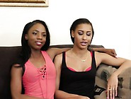 Hot Ebony Lesbians Having Some Fun
