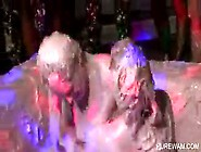 Wam Lesbo Scene With Sluts Fighting In Mud