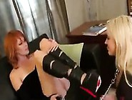 Blonde Slave Worshipping Her Masters Feet