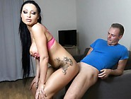 German Big Tits Latina Babe Gets Rough Anal And Cum In Mouth
