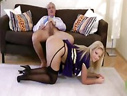 Busty Teen Love It Form The Back From Dirty Old Men