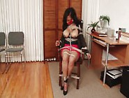 Ebony Bondage Play Leah 1
