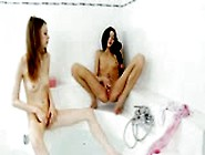 Bony Girls Playing In The Bath Room