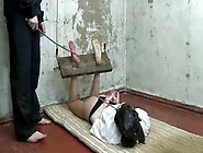 Kinky Teen Gets Her Little Feet Caned And Tortured