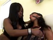 Black Girl In Bondage And Lingerie Lesbian Play