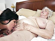 Young L Eats A Grannies Saggy Old Fuck Hole