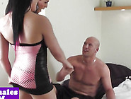 Beautiful Sheboy Spitroast Male In Threeway