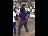 Black Girl Fight Tits Out