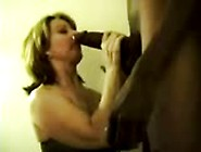 Wife Swallows Huge Black Bull