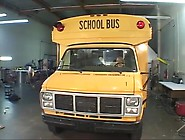 Pigtail Blonde Gets Fucked Next To A School Bus.