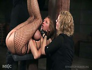 Cruel Mistress Punishes Nasty Chick Rain Degrey Wearing Only Fis