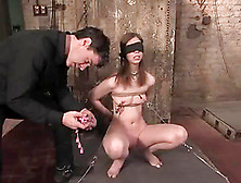 Blindfolded Kristine Gets Fucked In Chains