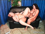 Bbw Lesbian Duo Fucks Double Dildo With Lust