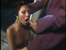 Jennifer Luv Finds A Secluded Spot In The Club To Ride His Cock