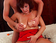 Horny Czech Extreme Hairy Mom With Oiled Big Natural Boobs Enjoy