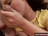 Euro Brunette Amateur Gives Bj