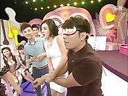Chinese Game Show Girls Tied,  Blindfolded And Tickled