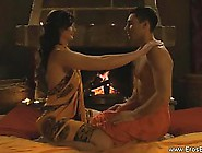 Indian Woman Is Gently Rubbing Her Partner's Dick And Liste
