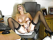 Big Jugged Mommy In Stockings Gives Me Erotic Solo On Webcam