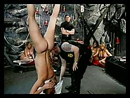 Sub Girls Hang Upside Down For Abuse In The Dungeon